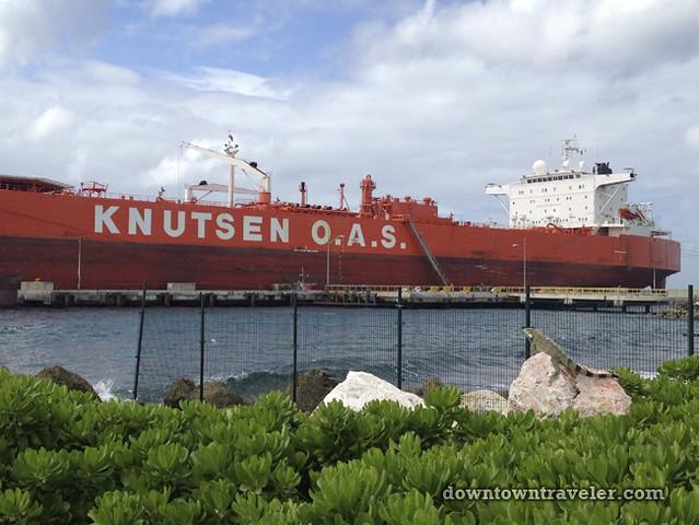 Renaissance Curacao Hotel_Knutsen freighter