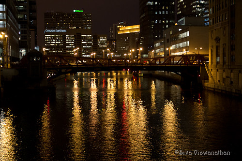 64/366 - Chicago River by Night