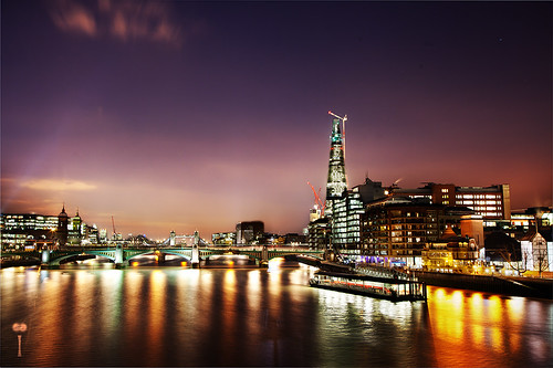 Night view from the Millenium Bridge - Manual HDR