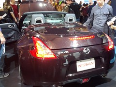automobile(1.0), automotive exterior(1.0), vehicle(1.0), automotive design(1.0), nissan 370z(1.0), auto show(1.0), nissan(1.0), bumper(1.0), land vehicle(1.0), luxury vehicle(1.0), supercar(1.0), sports car(1.0),