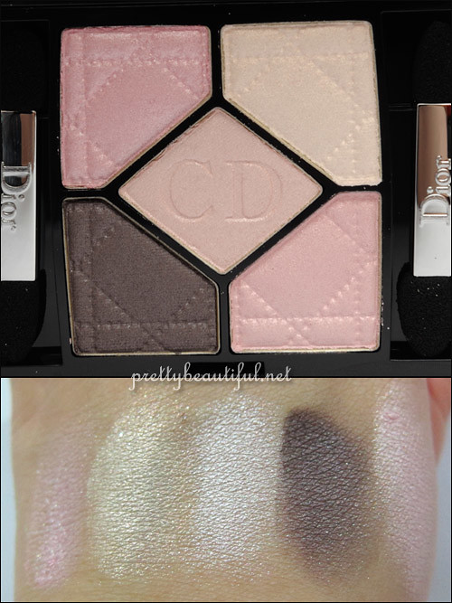 Rose Porcelaine Dior Eyeshadow Palette 834 Swatch