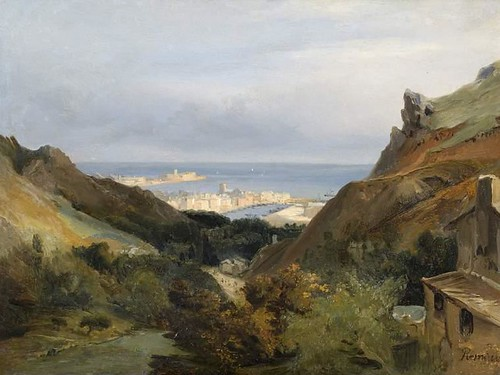 Rémond, Jean Charles Joseph (painter) Italian landscape with a view of a harbour
