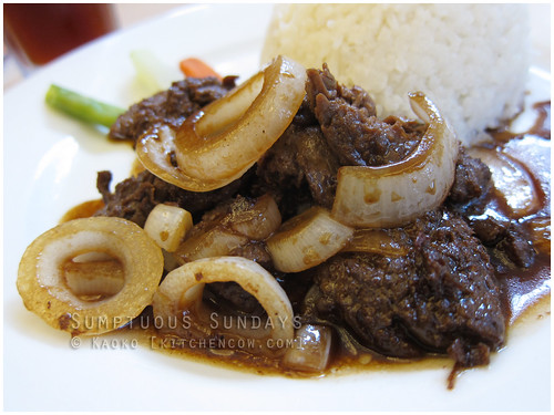 Sumptuous Sundays: Beef Steak Tagalog from Bob's of Bacolod