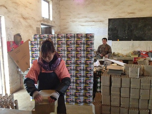 Block Of Finished Barrages In Firework Factory - Epic Fireworks China Trip 2012