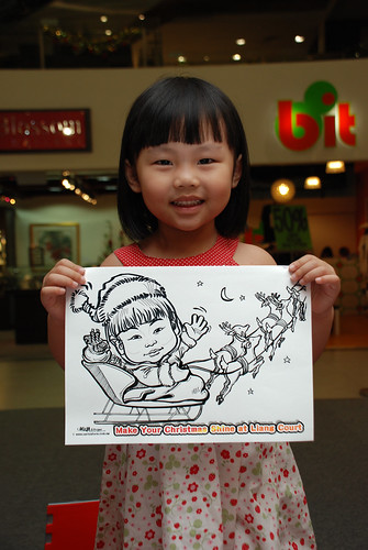 "caricature live sketching for ""Make Your Christmas Shine at Liang Court"" - 4"