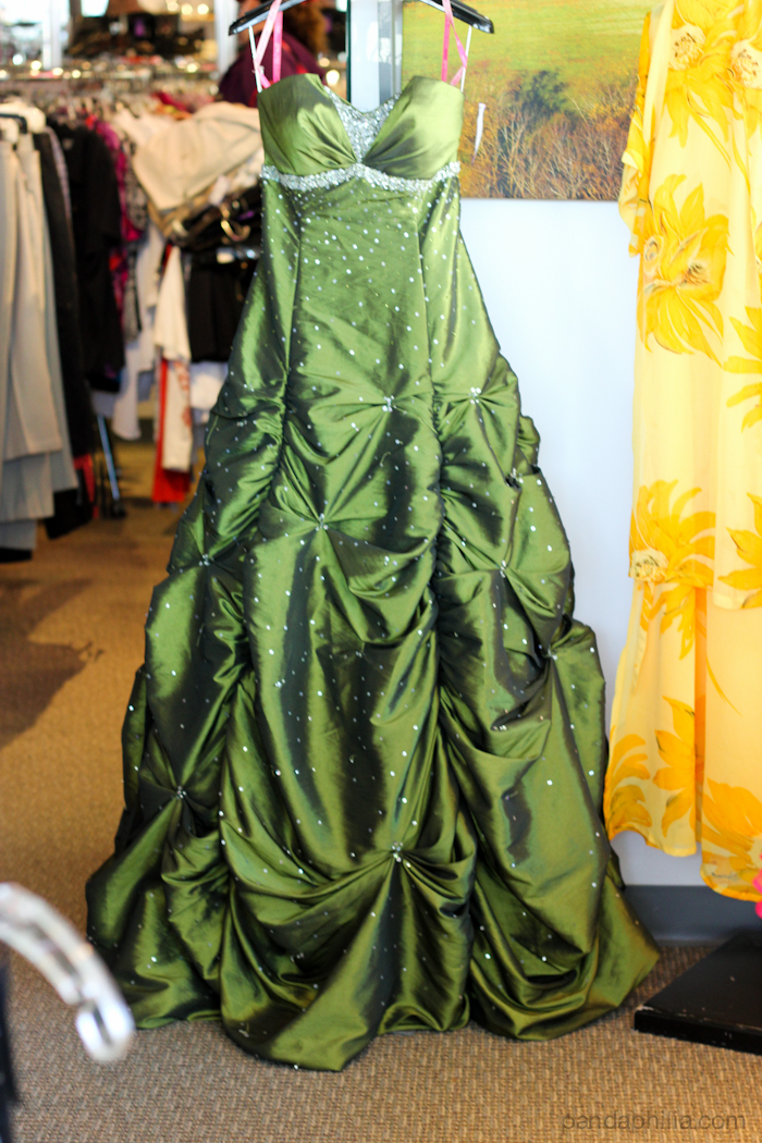 stunning olive gown