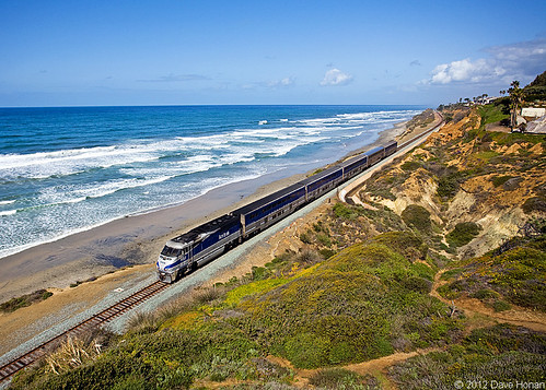 ocean california ca railroad beach electric train coast los sand san track surf waves pacific angeles diego rail railway trains amtrak shore delmar railroads surfliner