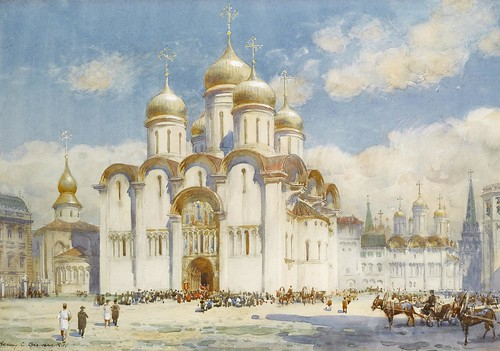 Henry Charles Brewer - The Cathedral of the Dormition, Moscow by Gandalf's Gallery