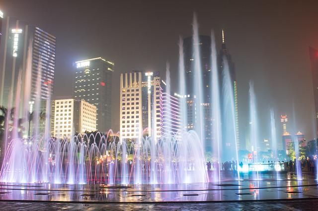 花城广场音乐喷泉2