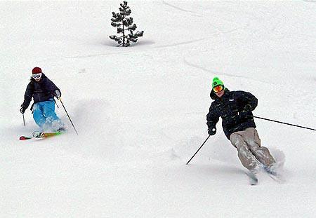 Esquiadores expertos