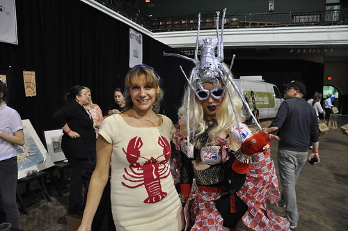 Susan and Lobstah Gaga from Red Hook Lobster Pound