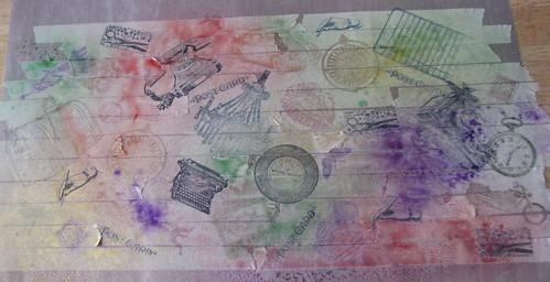 Art Journal #8 - Stamped Masking Tape 006