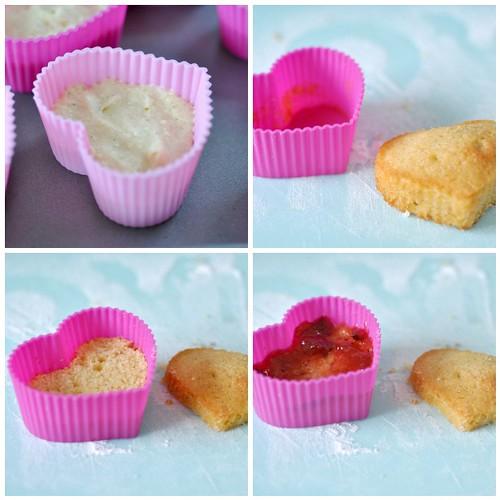 Victoria sandwich cake hearts