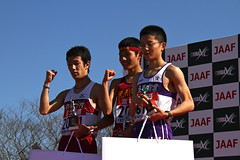 ジュニア男子8km 1〜3位