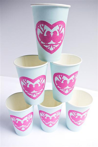Valentine Party Cups - Love Birds