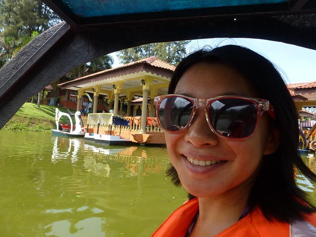 On the pedal boat