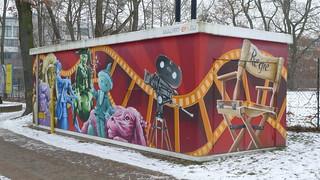 Trafohaus: Kamera und Regiestuhl