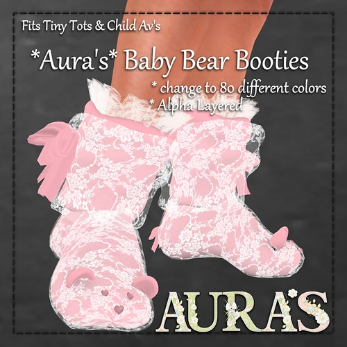 Baby Bear Booties by Aura Milev
