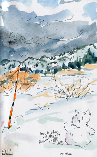 March 2012: Sketching in the Snow by apple-pine
