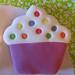 Cupcake rosa festivo