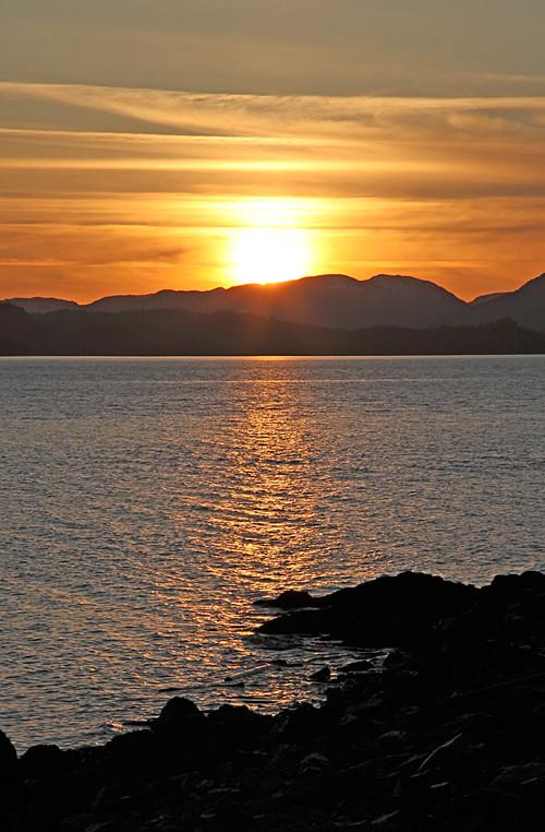Kasaan Bay sunset, Kasaan, Alaska