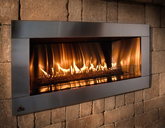 Contemporary Fireplace (Close Up)