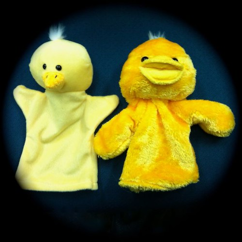 Chick & Duckling puppets