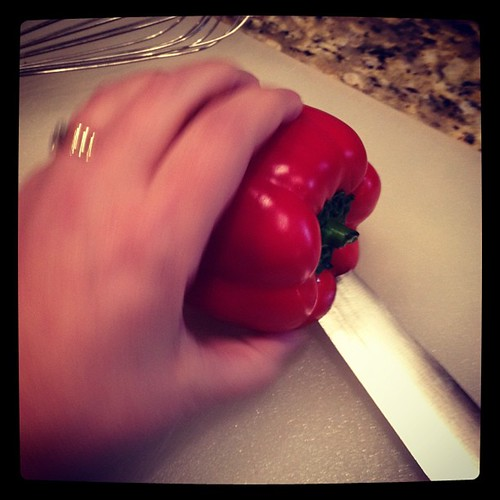 Photo A Day: Day 19: Something I Hate to do. A two for one shot- I hate cooking and peppers! It's an Ugh and Ick!