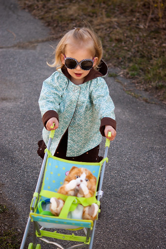 birthday girl and her new stroller!