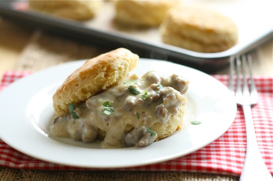 Southern Style Biscuits and Sweet Maple Sausage Gravy 1