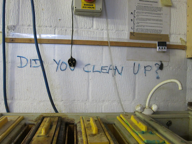 Did you clean up?