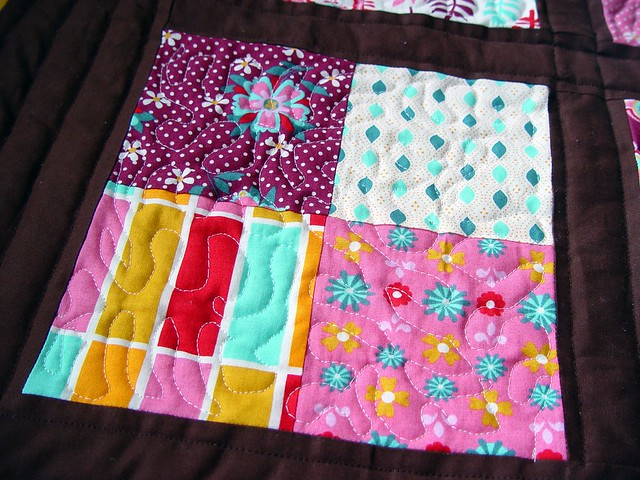 Meandering Quilting lines
