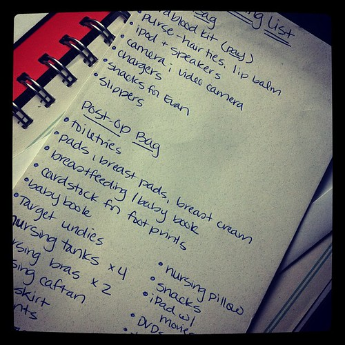{Day 20: Handwriting} my (likely overzealous) packing list #febphotoaday