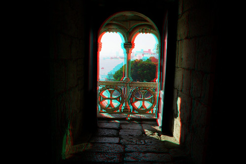 Lisbon in anaglyph