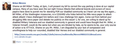 Brian Nieves rant on Bill Miller