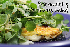 Brie Omelet & Watercress Salad recipe