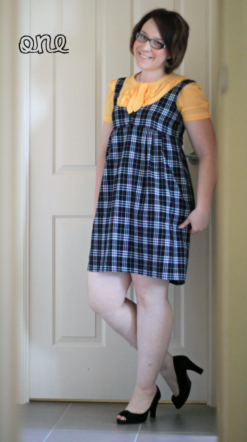jumper dress tunic pinafore school girl lolita cute