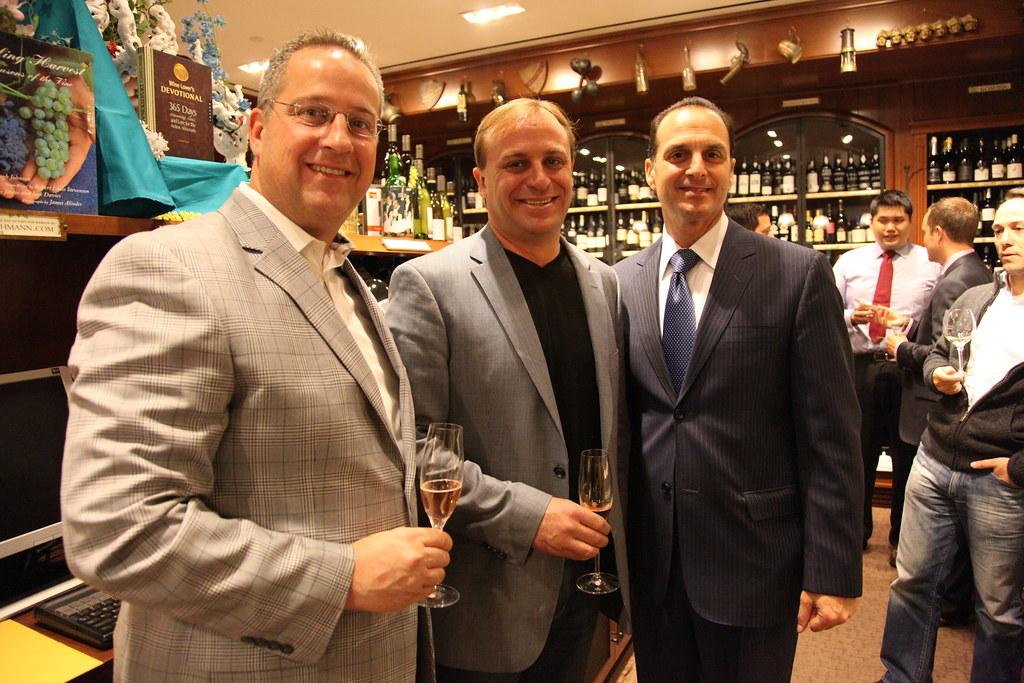 John Jordan of Jordan Vineyard & Winery flanked by Tim Burns and Steven Bonavita of Lauber Imports