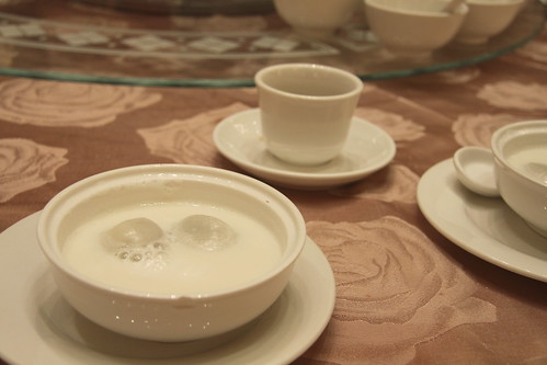 Tang Yuan and almond milk at Shiang Garden. Richmond, BC
