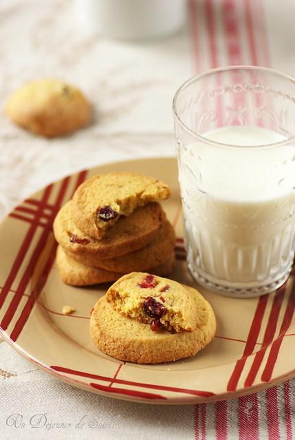 Cookies au maïs et cranberries