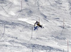 Brad Spence during the World Cup slalom in Bansko, Bulgaria.