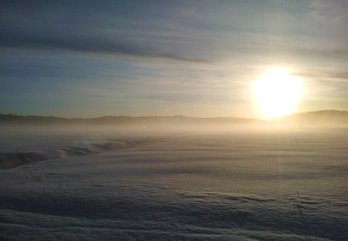 winter sky mist snow nature sunrise pvanhala