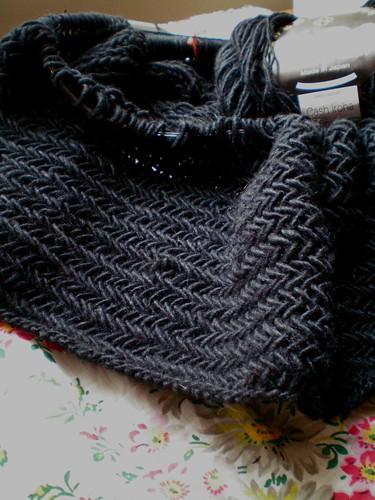 WIP: Big Herringbone Cowl