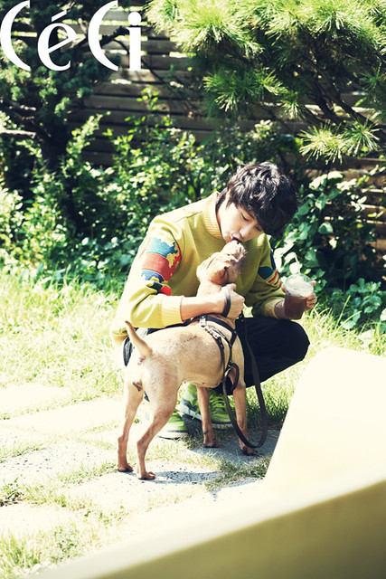 Jung Il Woo on Ceci Magazine with His Pet Dog