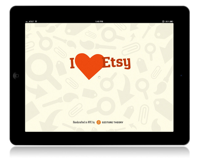 I Heart Etsy iPad App: Loading