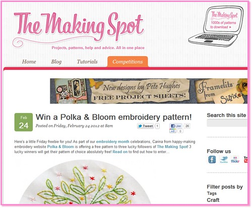 Win Polk a& Bloom patterns at The Making Spot