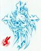 skull cross tattoo design by jackie rabbit