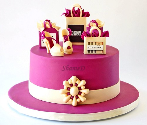 Designer Shopping Bags and Shoe Cake