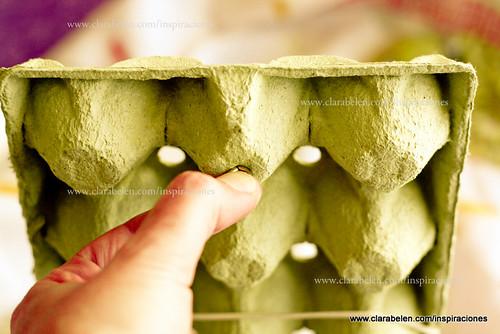 Manualidades de reciclar: convertir cartón de huevos en organizador de collares