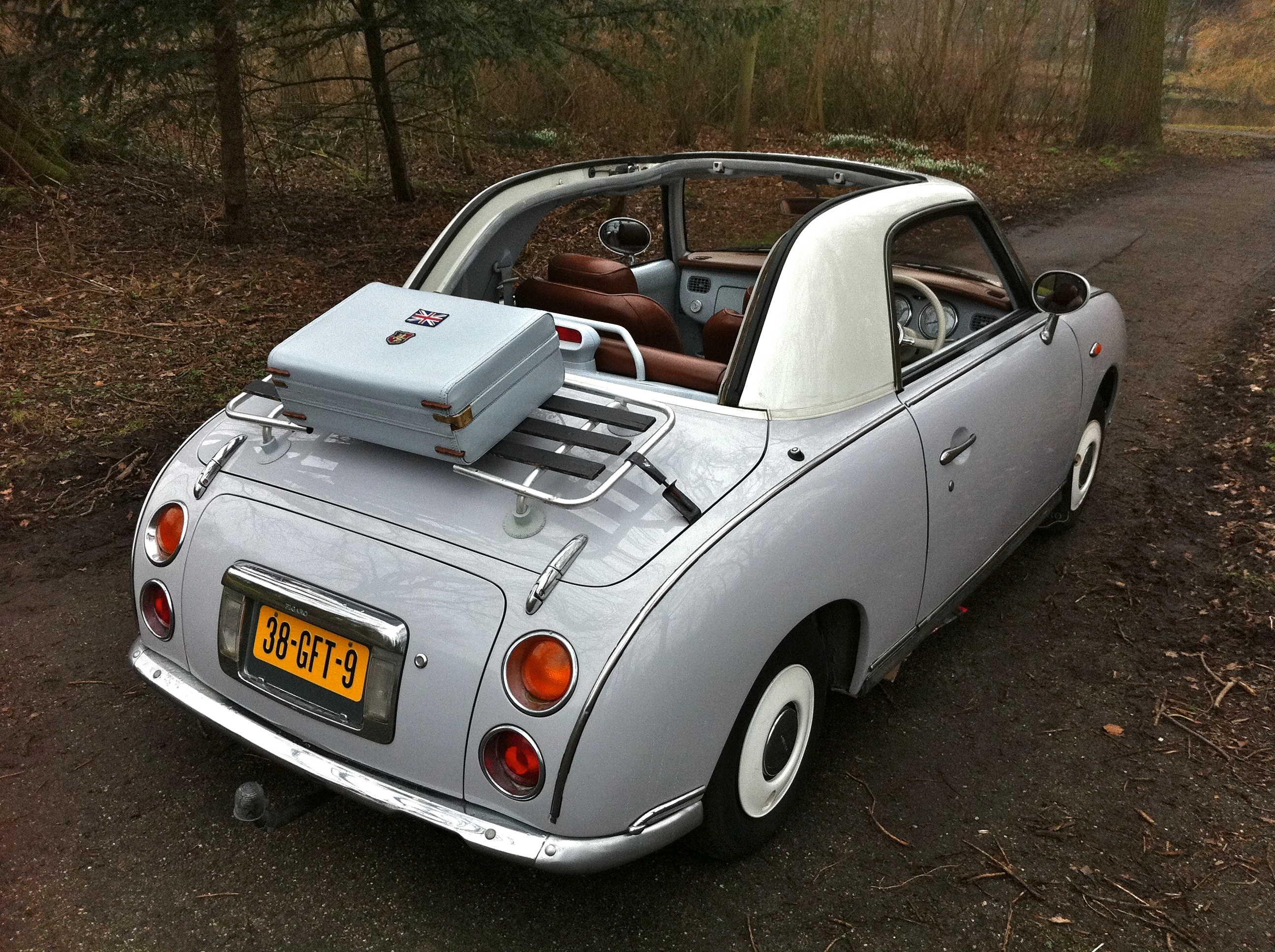 Chesterfield Nissan Figaro With Hartman Suitcase On The